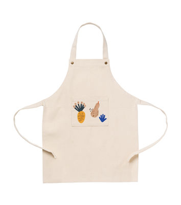 Tablier enfant Fruiticana / Coton - Ferm Living multicolore,beige en tissu