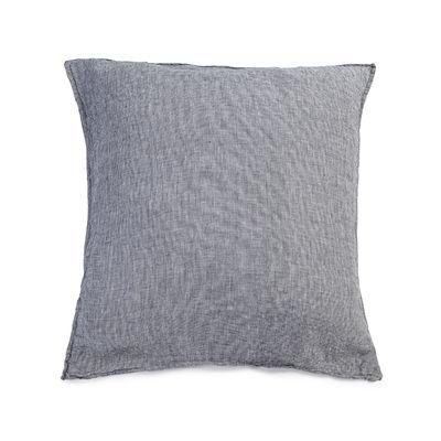 Déco - Textile - Taie d'oreiller 65 x 65 cm / Lin lavé - Au Printemps Paris - 65 x 65 cm / Mini pied-de-poule gris - Lin lavé