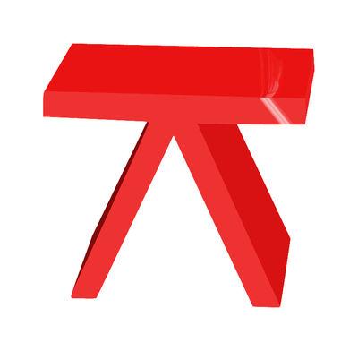 Arredamento - Tavolini  - Tavolino d'appoggio Toy - versione laccata di Slide - Laccato rosso - Polietilene laccato
