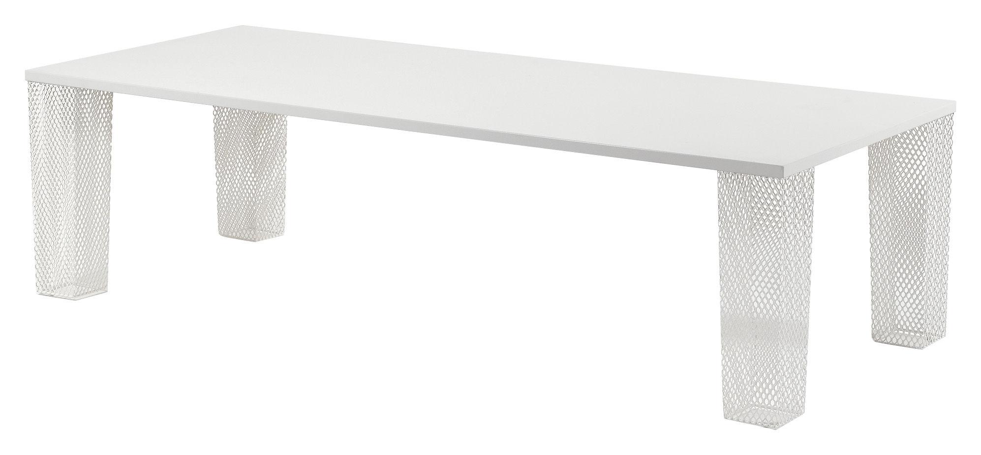 Outdoor - Tavoli  - Tavolo rettangolare Ivy - Versione lamiera di Emu - Bianco - Acciaio