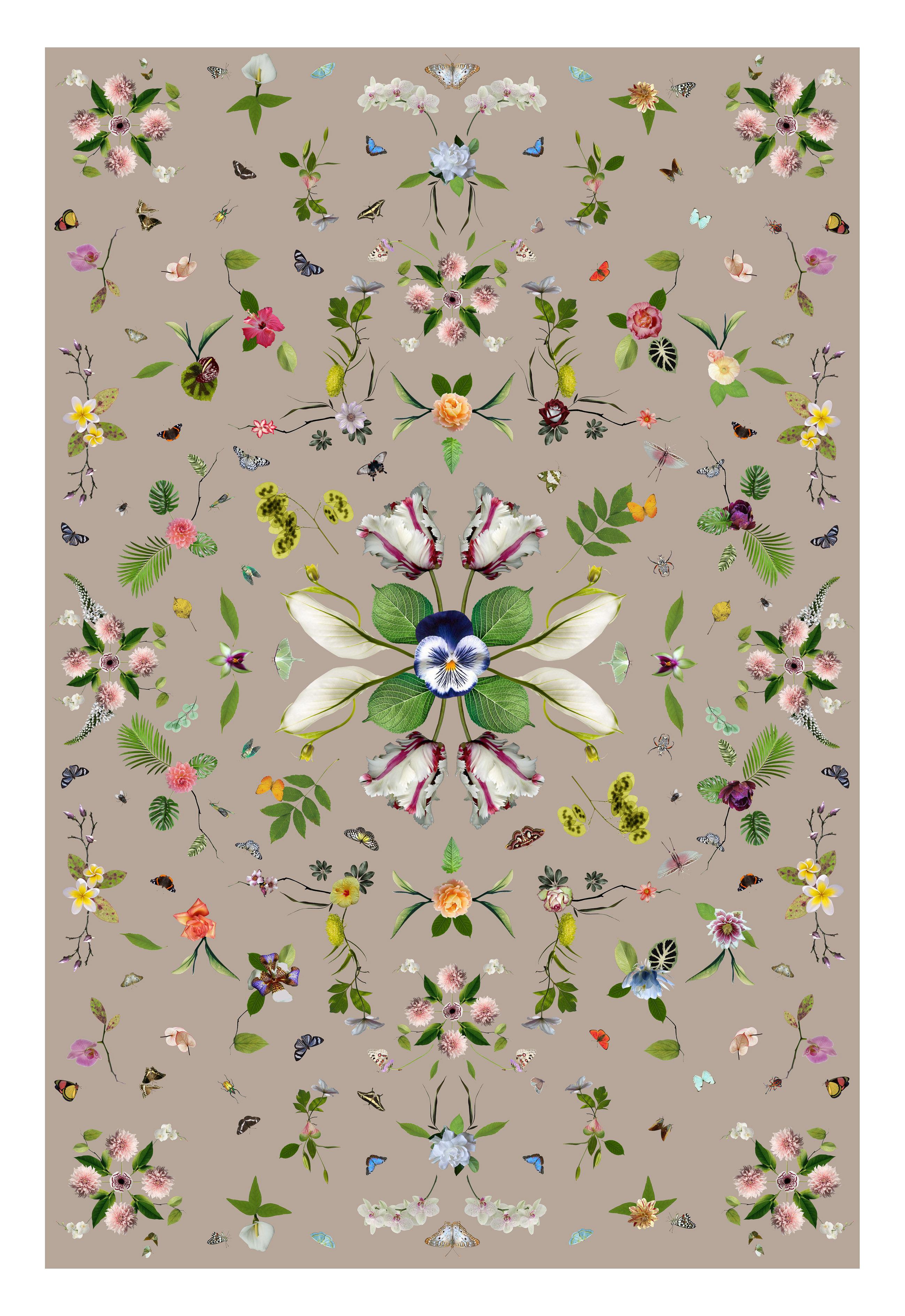 Dekoration - Teppiche - Garden of Eden Teppich / 300 x 200 cm - Moooi Carpets - Beige - Polyamid