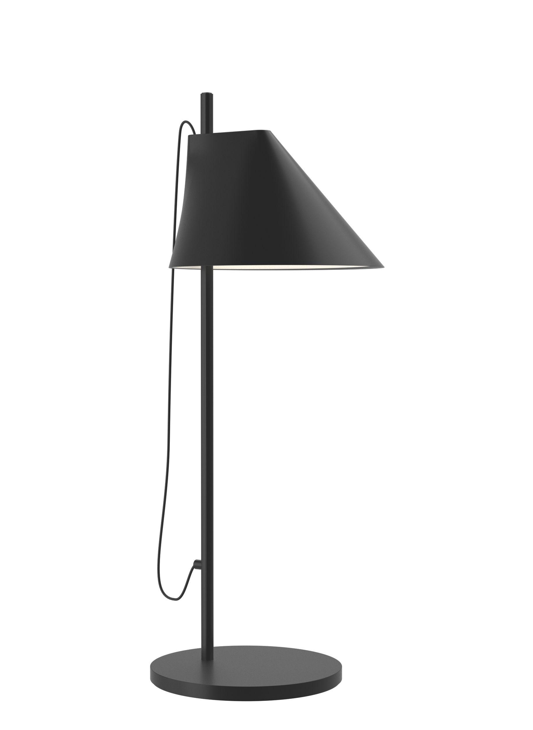 Leuchten - Tischleuchten - Yuh LED Tischleuchte / H 61 cm - Louis Poulsen - Schwarz - lackiertes Aluminium, Laiton laqué