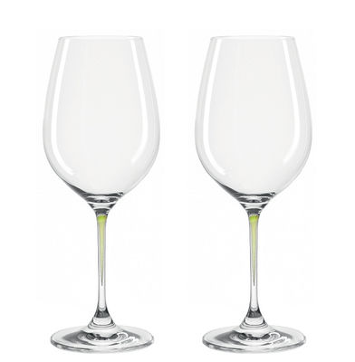 Verre à vin La Perla / Set de 2 - Leonardo vert en verre