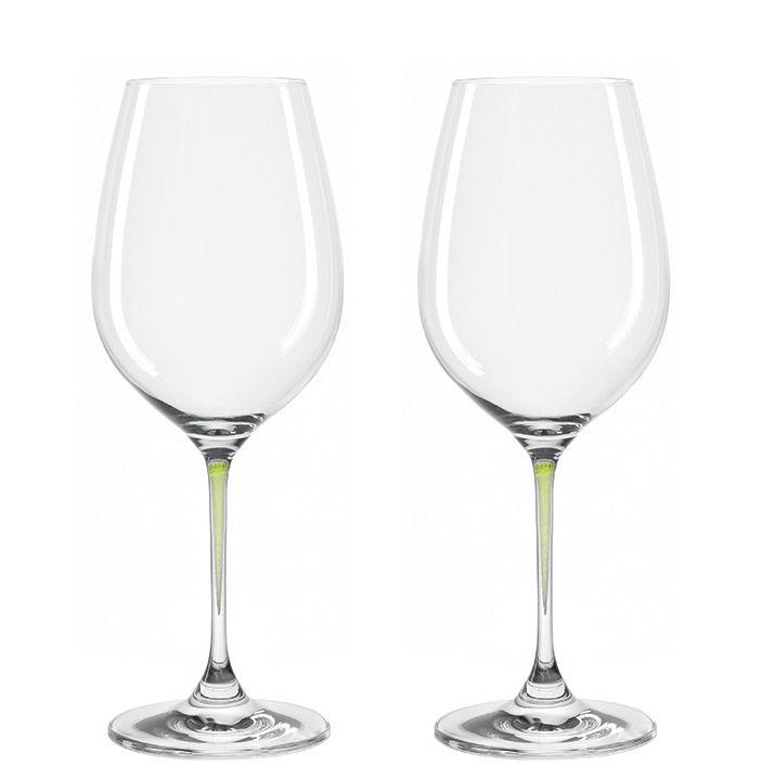 Arts de la table - Verres  - Verre à vin La Perla / Set de 2 - Leonardo - Vert - Verre Teqton®