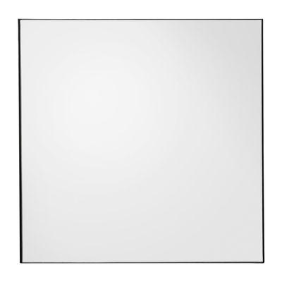 Decoration - Mirrors - Quadro Wall mirror - 90 x 90 cm by AYTM - Smoked grey - Glass, Painted MDF