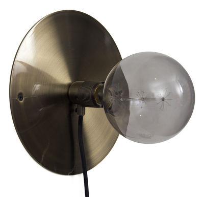 Leuchten - Wandleuchten - Frama Kit Wandleuchte mit Stromkabel groß / Ø 25 cm - Frama  - Bronzefarben - Metall, Bronzefinish