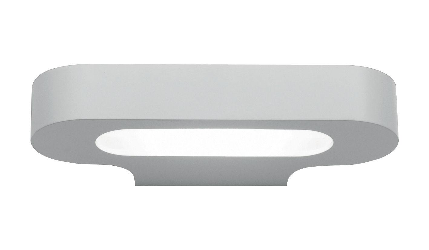 Leuchten - Wandleuchten - Talo LED Wandleuchte / L 21 cm - Artemide - Weiß - klarlackbeschichtetes Aluminium