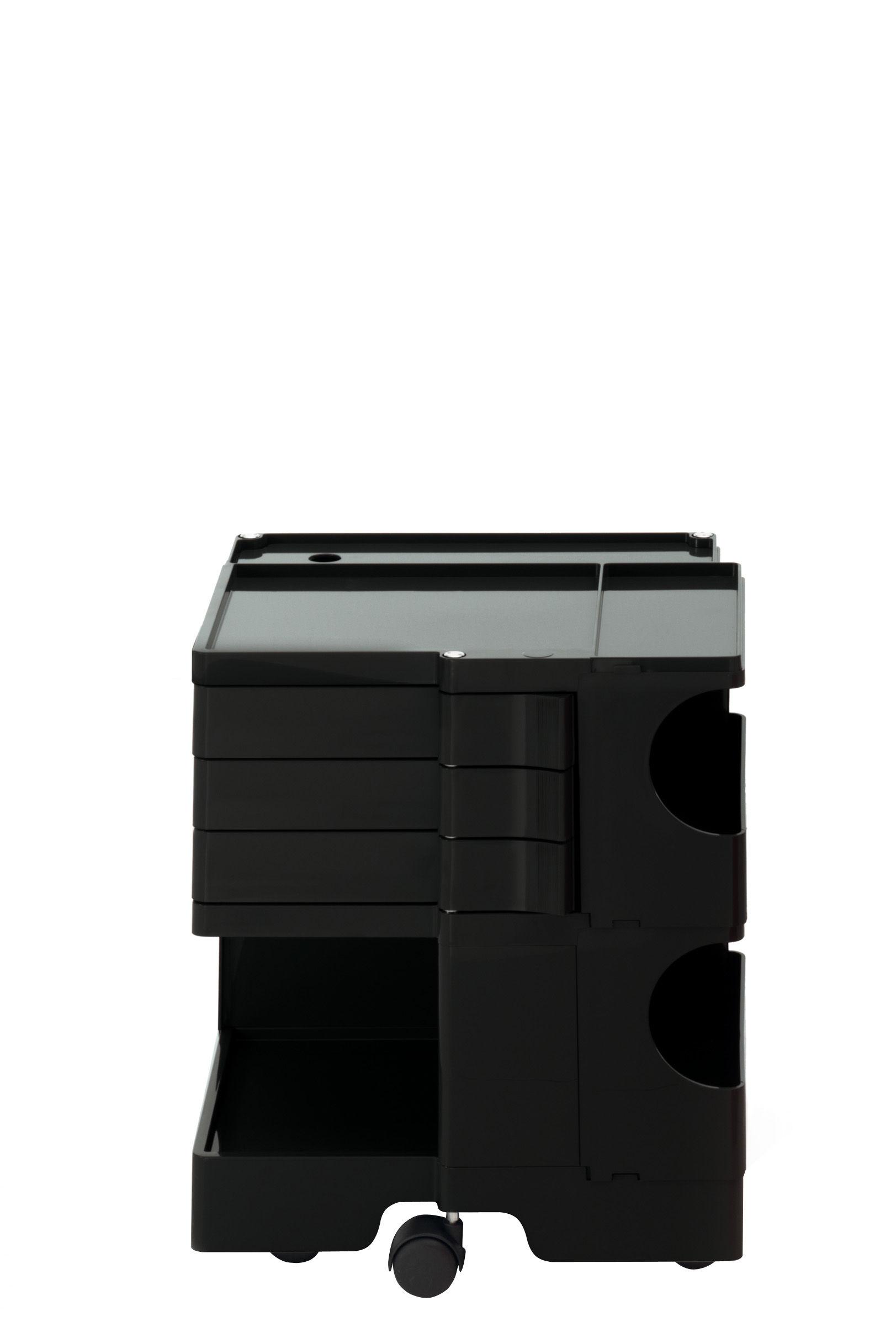 Möbel - Beistell-Möbel - Boby Ablage / H 52 cm - 3 Schubladen - B-LINE - Schwarz - ABS