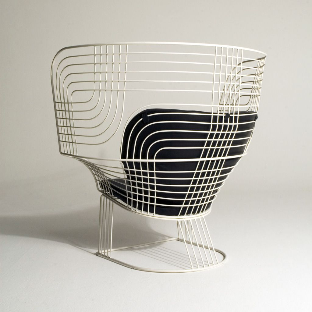 Furniture exceptional furniture link easy chair armchair by tom dixon white varnished