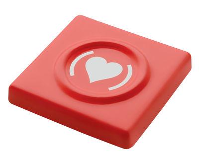 Accessori - Borse, Valigie e Portafogli - Custodia di protezione Cohndom Box / Per preservativi - Edizione speciale (RED) - A di Alessi - Rosso - Resina termoplastica