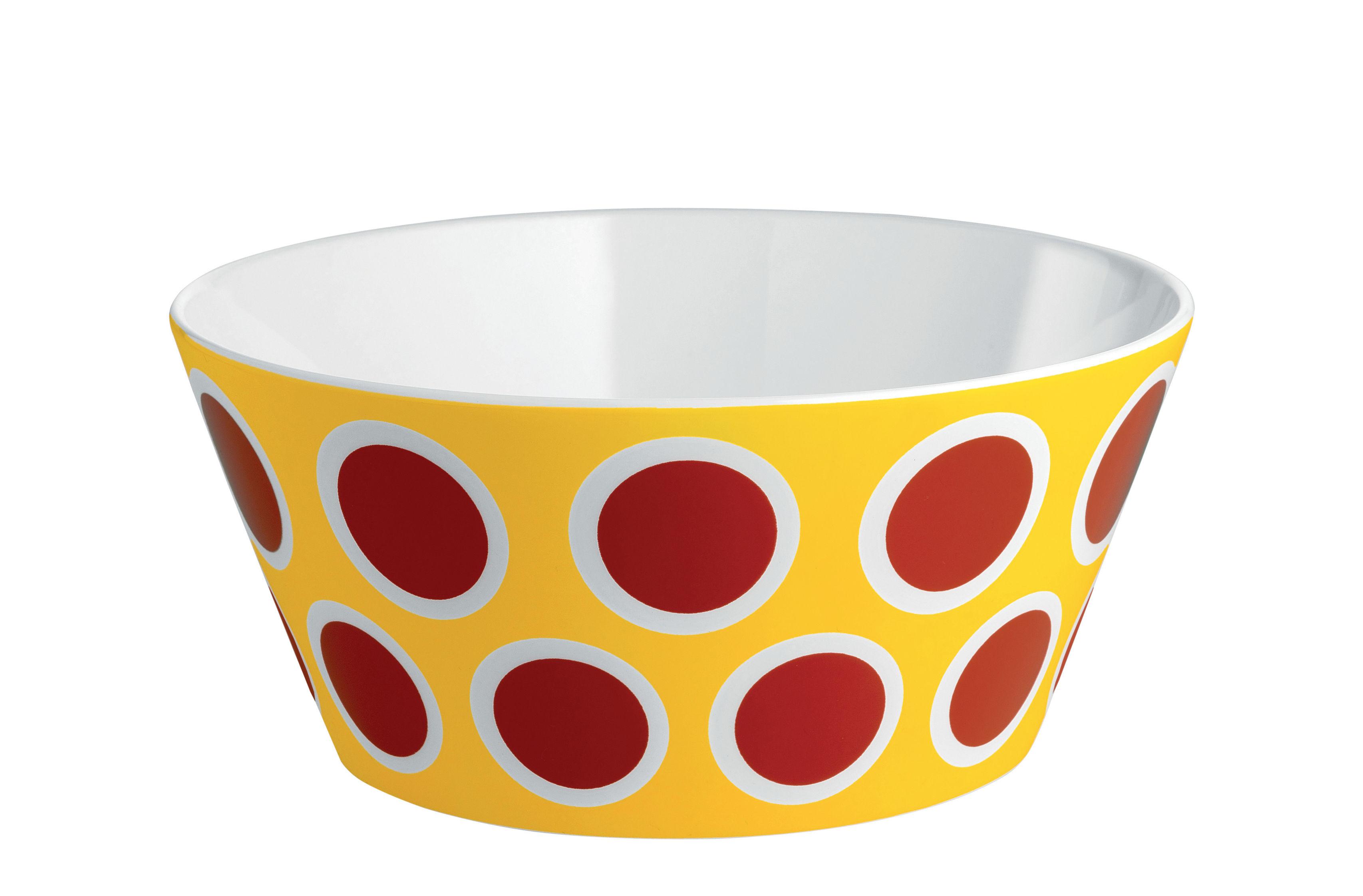 Arts de la table - Saladiers, coupes et bols - Bol Circus / Ø 16 x H 7 cm - Porcelaine anglaise - Alessi - Rouge et jaune - Porcelaine anglaise
