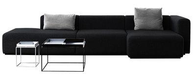 Canapé d'angle Mags / L 342 cm - Accoudoir droit - Hay gris foncé en tissu