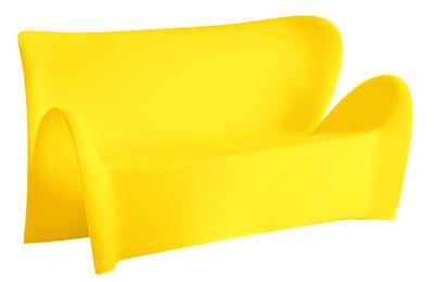 Canapé droit Lily / 3 places - L 179 cm - MyYour jaune mat en matière plastique
