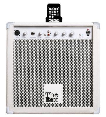 Interni - High Tech - Cassa The Box - Compatibile con iPhone, iPod, Mp3 di Seletti - Bianco - MDF, Metallo