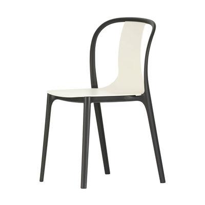 Mobilier - Chaises, fauteuils de salle à manger - Chaise Belleville / Plastique - Vitra - Crème - Polyamide