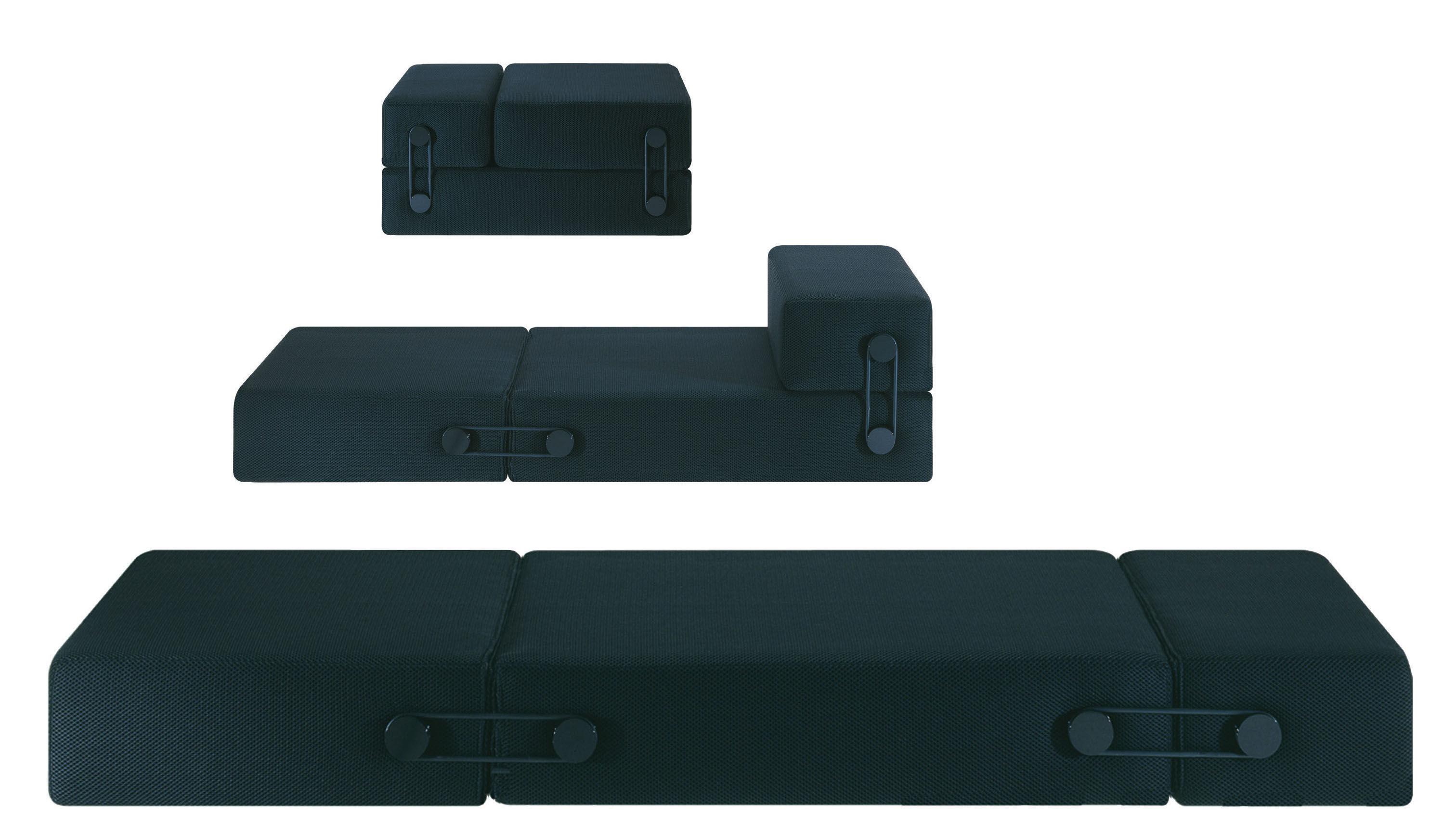 chauffeuse convertible trix kartell noir made in design. Black Bedroom Furniture Sets. Home Design Ideas