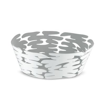 Corbeille Barket / Ø 18 cm - Acier - Alessi blanc en métal