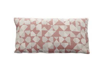 Coussin / 52 x 27 cm - Zanotta blanc,rose en tissu