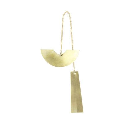 Décoration de Noël Twin Half Circle / Laiton - Ferm Living laiton doré en métal