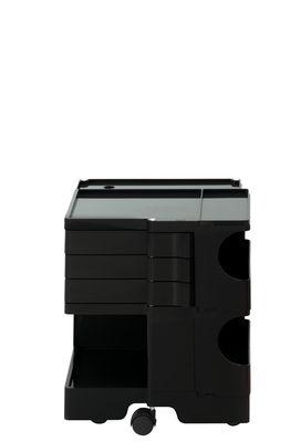 Desserte Boby / H 52 cm - 3 tiroirs - B-LINE noir en matière plastique