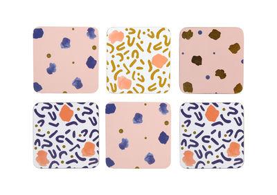 Arts de la table - Dessous de plat - Dessous de verre Memphis / Set de 6 - Liège - & klevering - Multicolore - Liège