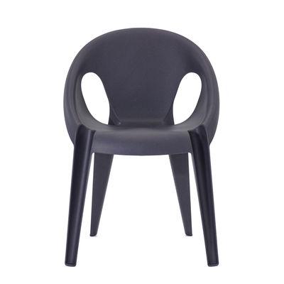 Mobilier - Chaises, fauteuils de salle à manger - Fauteuil empilable Bell / By Konstantin Grcic / Polypropylène recyclé - Eco-conçu - Magis - Bleu Midnight - Polypropylène recyclé