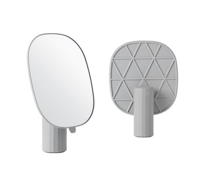 Decoration - Mirrors - Mimic Free standing mirrors by Muuto - Grey - Injection-moulded ABS, Resin