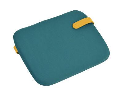 Galette Color Mix / Pour chaise Bistro - 38 x 30 cm - Fermob miel,bleu goa en tissu