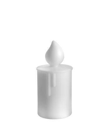 Image of Lampada da tavolo Fiammetta - / H 22 cm di Slide - Bianco - Materiale plastico