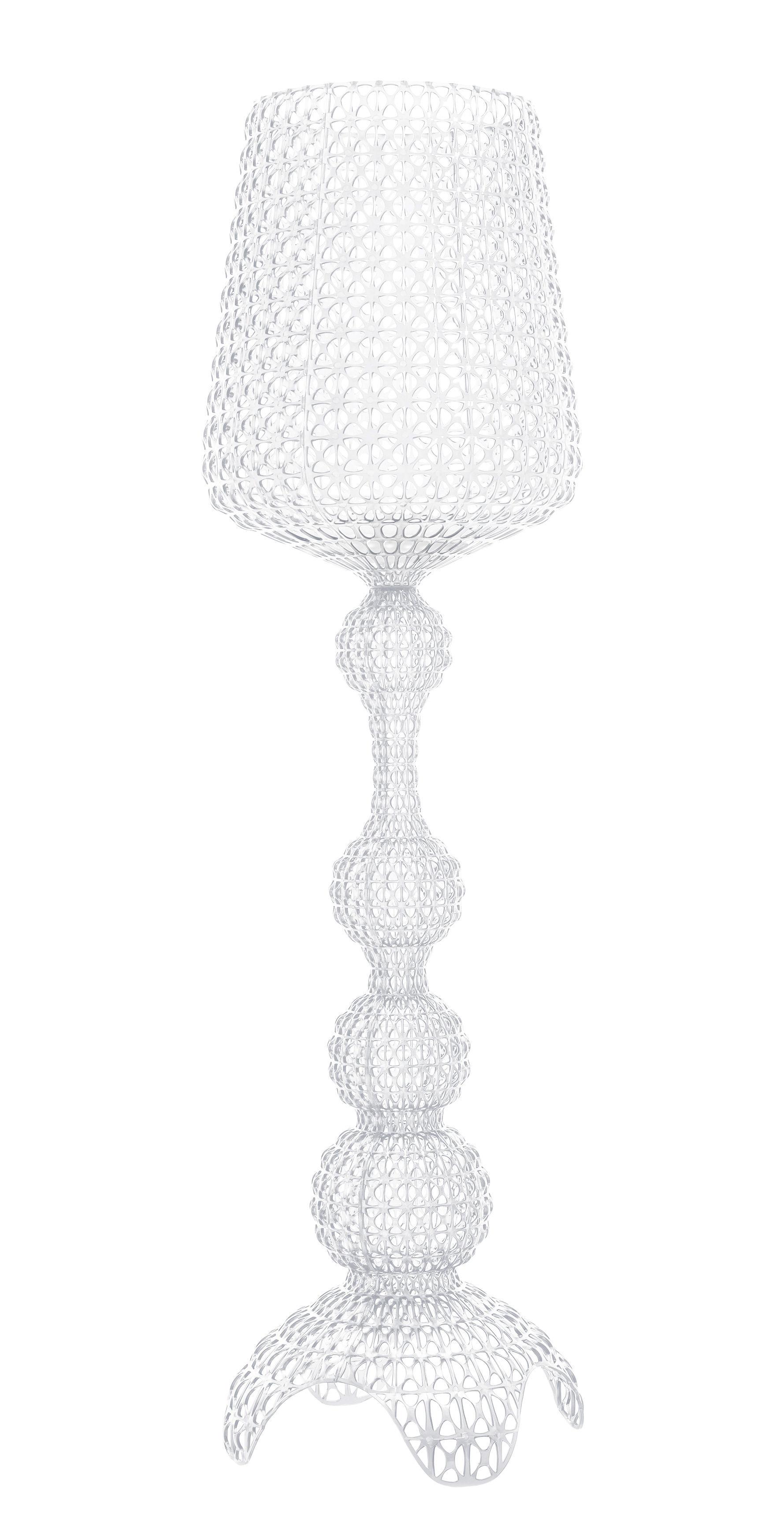 Luminaire - Lampadaires - Lampadaire Kabuki Indoor / LED - Pour l'intérieur - H 165 cm - Kartell - Cristal - Technopolymère thermoplastique