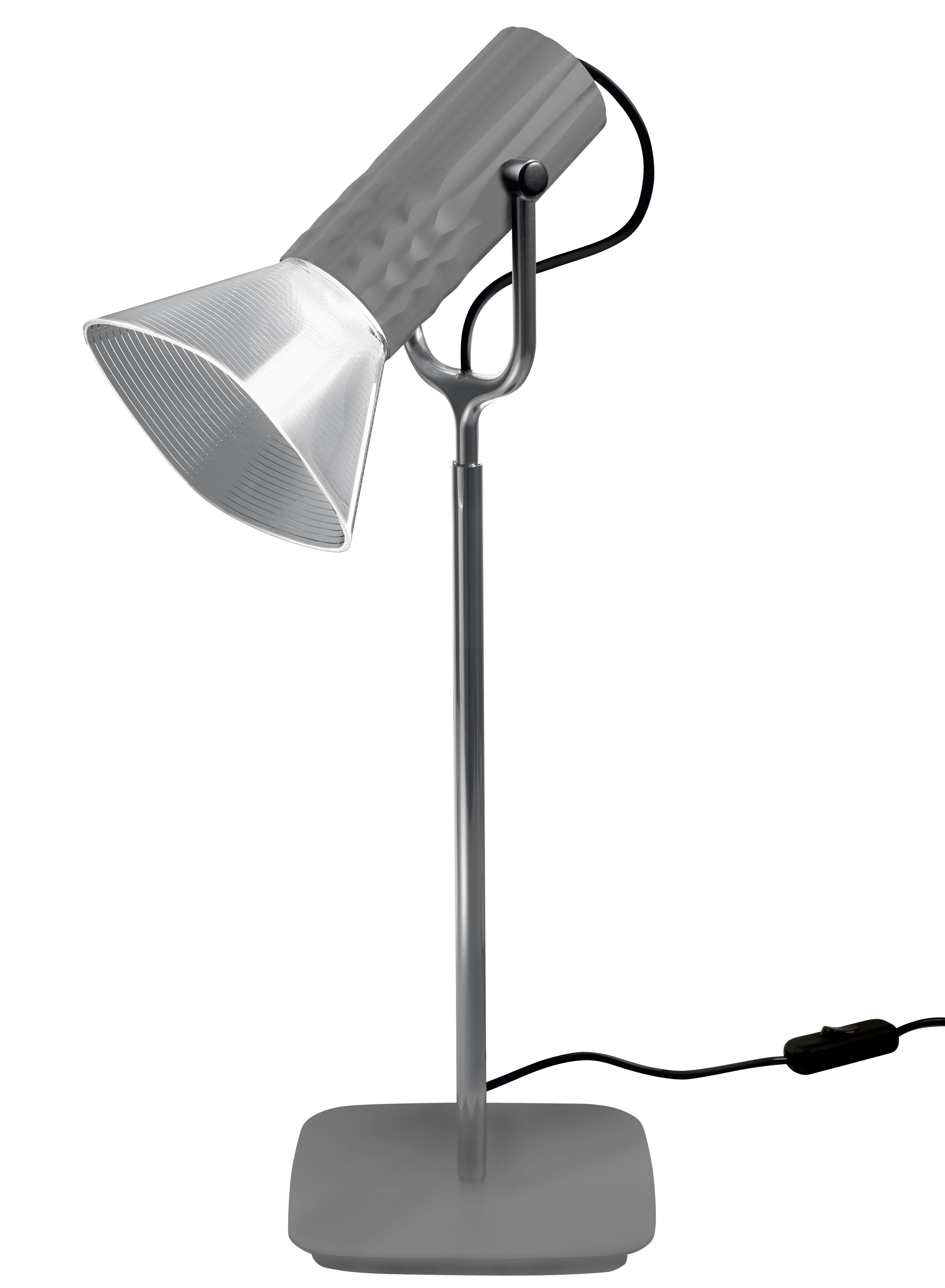 Luminaire - Lampes de table - Lampe de table Fiamma / H 54 cm - Artemide - Gris - Matière plastique, Métal