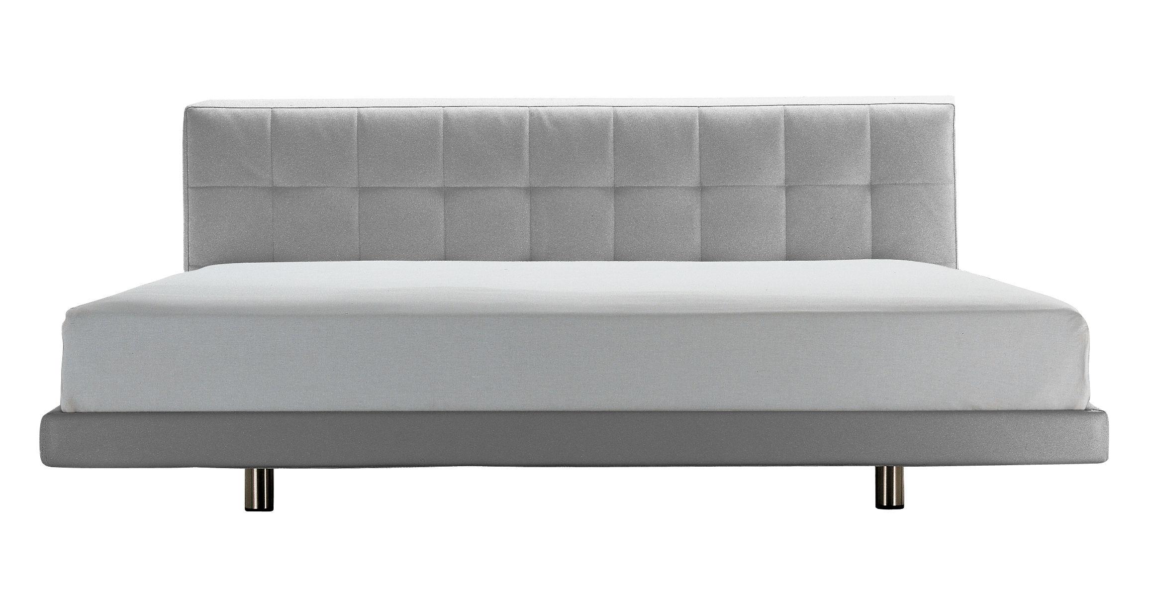 Mobilier - Lits - Lit double Alfa / 166 x 228 cm - Zanotta - Tissu - Gris - Acier, Tissu