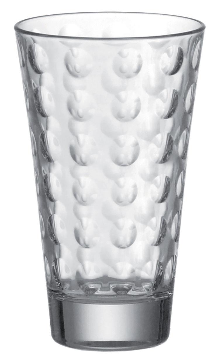 Tableware - Wine Glasses & Glassware - Optic Long drink glass by Leonardo - Transparent - Thin layered glass