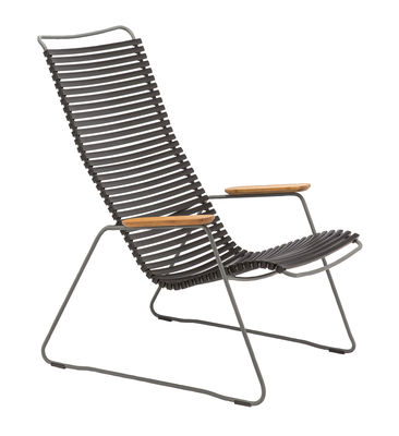Furniture - Armchairs - Click Lounge Low armchair - High backrest by Houe - Black - Bamboo, Metal, Plastic
