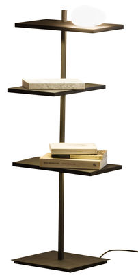 Furniture - Bookcases & Bookshelves - Suite Luminous shelf by Vibia - H 94 cm / Brown - Lacquered metal, Polycarbonate