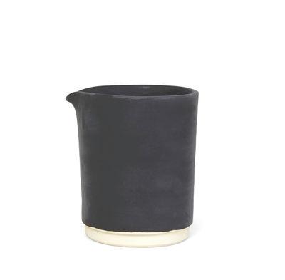 Kitchenware - Sugar Bowls, Milk Pots & Creamers - Otto Medium Milk pot - / Ø 9.5 x H 11.5 cm by Frama  - Black - Enamelled sandstone