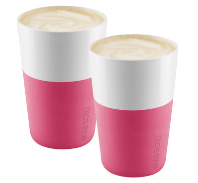 Mug Cafe Latte / Set de 2 - 360 ml - Eva Solo blanc,rose grenade en céramique
