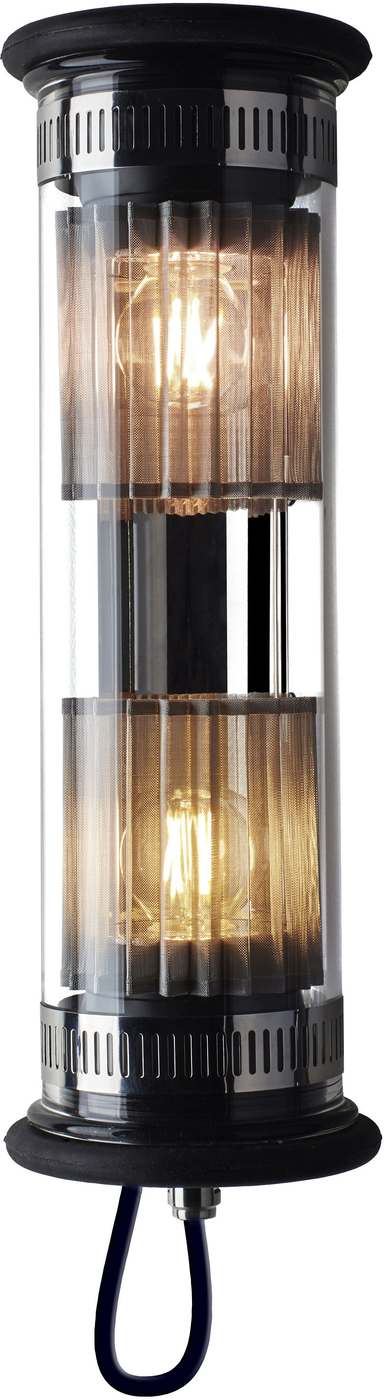Lighting - Wall Lights - In The Tube 100-350 Outdoor wall light - L 37 cm by DCW éditions - Silver / Silver mesh - Borosilicated glass, Stainless steel