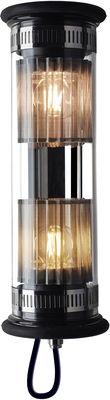 Leuchten - Wandleuchten - In The Tube 100-350 Outdoor-Wandleuchte / L 37 cm - DCW éditions - Silberfarben - rostfreier Stahl, Verre borosilicaté