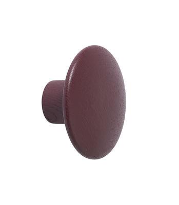 Patère The Dots Wood / Small - Ø 9 cm - Muuto rouge/marron en bois