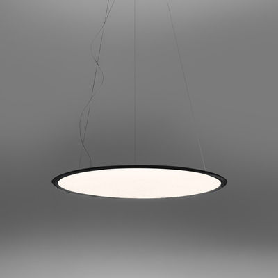 Lighting - Pendant Lighting - Discovery LED Pendant - / Ø 70 cm- Connected smartphone app by Artemide - Black / Transparent - Aluminium, PMMA