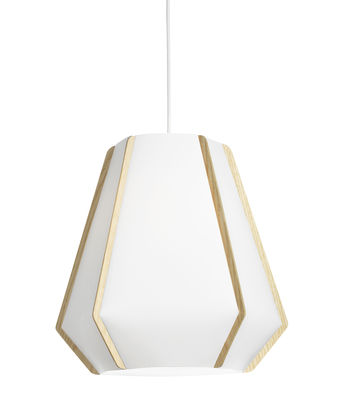Lighting - Pendant Lighting - Lullaby P2 Pendant - Ø 43 x H 39 cm by Lightyears - White / Ash - Ashwood, Papier de pierre