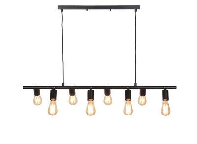 Lighting - Pendant Lighting - Miami Pendant - / 8 adjustable sockets - L 105 cm by It's about Romi - Black - Iron