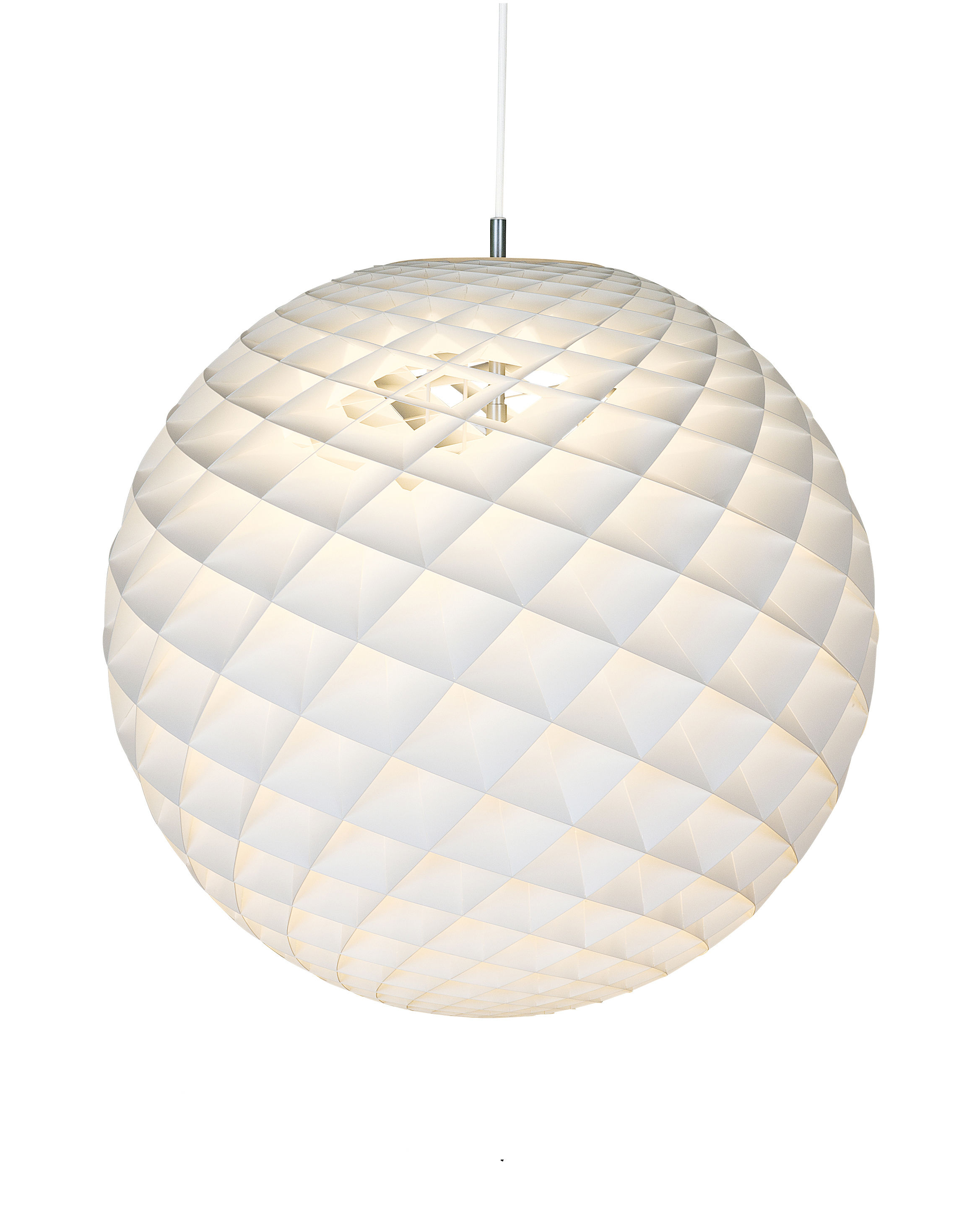 Lighting - Pendant Lighting - Patera Pendant - Ø 60 cm by Louis Poulsen - White - Acrylic, Brass, PVC
