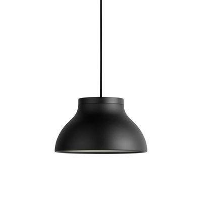 Lighting - Pendant Lighting - PC Small Pendant - / Ø 25 cm - Aluminium by Hay - Black - Anodized aluminium