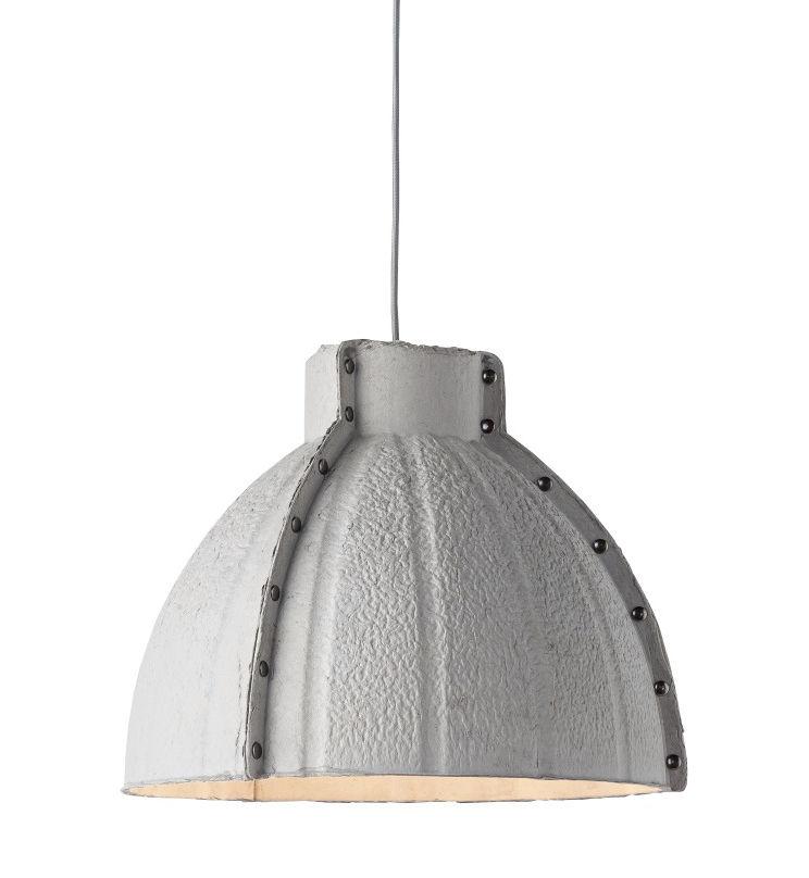 Lighting - Pendant Lighting - Yellowstone Pendant - Recycled paper pulp - Ø 40 cm by GOOD&MOJO - Light grey - Carton recyclé, Steel