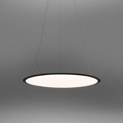Leuchten - Pendelleuchten - Discovery LED Pendelleuchte / Ø 70 cm - Steuerbar über Smartphone-App - Artemide - Schwarz / Transparent - Aluminium, PMMA