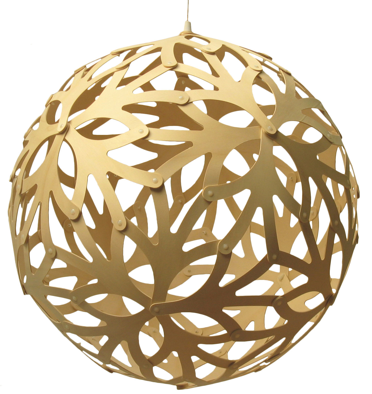 Leuchten - Pendelleuchten - Floral Pendelleuchte Ø 80 cm - David Trubridge - Holz natur - Ø 80 cm - Kiefernfurnier