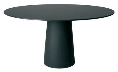 Plateau de table Container / Ø 160 cm - Moooi noir en matière plastique