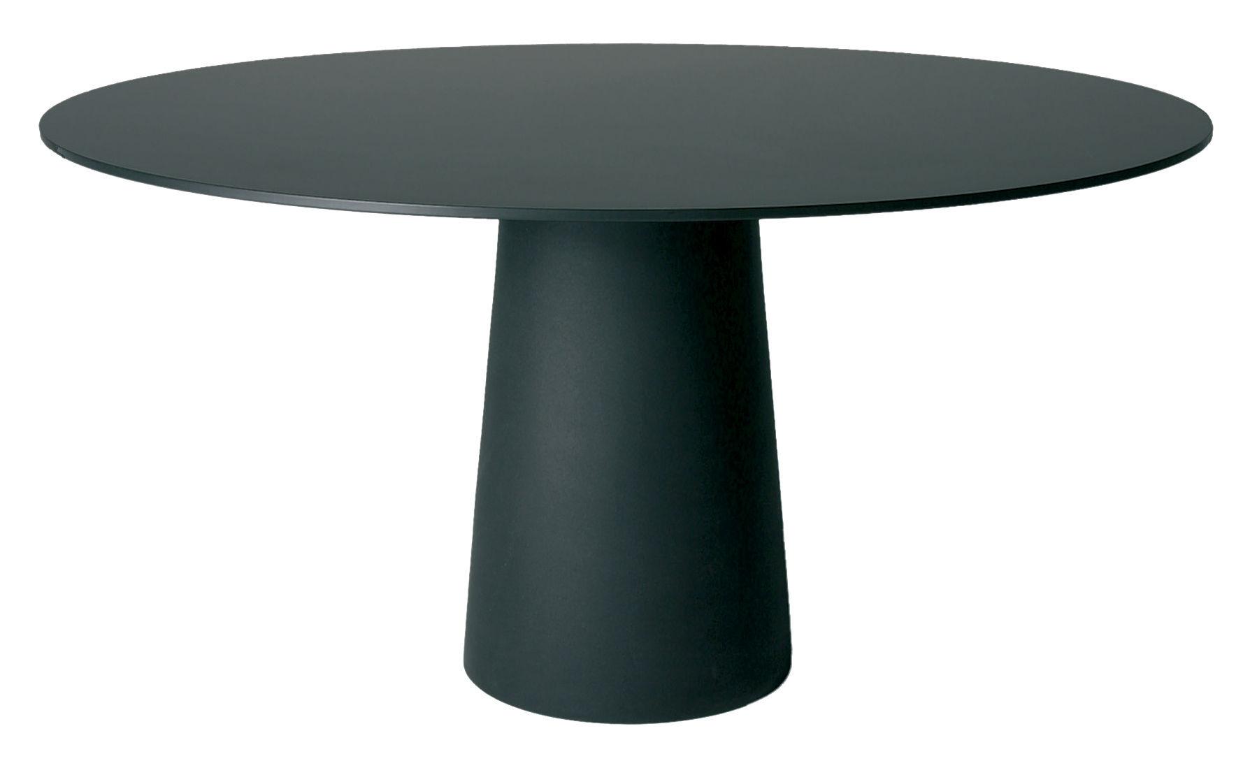 Jardin - Tables de jardin - Plateau de table Container / Ø 160 cm - Moooi - Plateau noir - Ø 160 cm - HPL